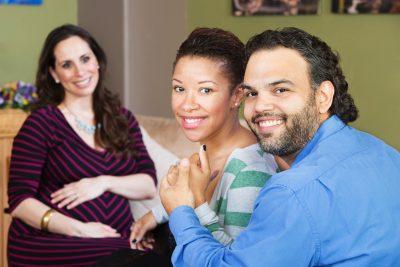 surrogate parents and pregnant woman