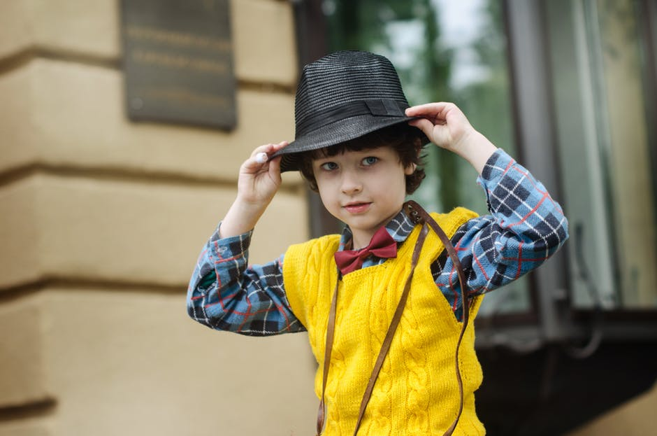 Fashionable kid with hat