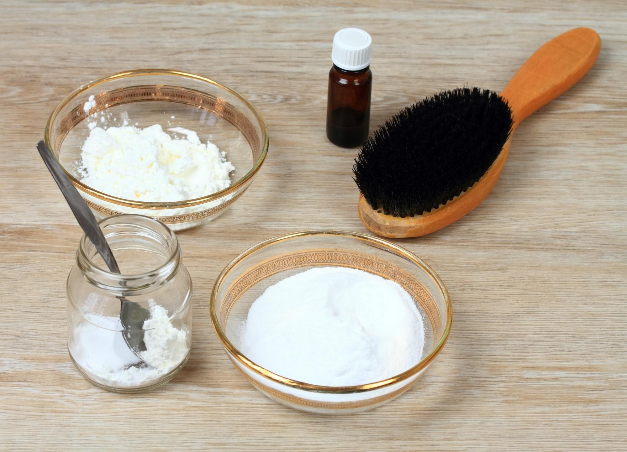 DIY hair treatment incrediants on table